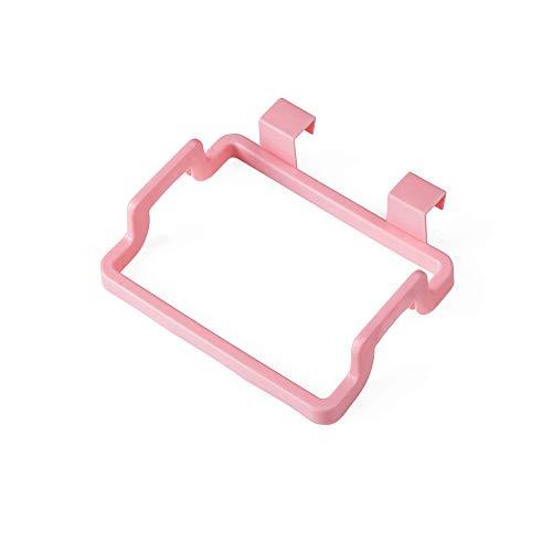 Ctgvh creativo armadio appeso spazzatura staffa, plastica portatile supporto sacchi della spazzatura per cucina rosa