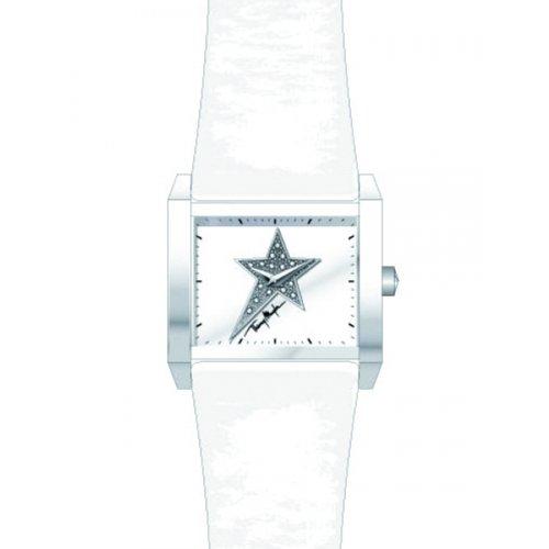 Thierry Mugler 4712502 - Reloj analógico de cuarzo para mujer con correa de piel, color blanco