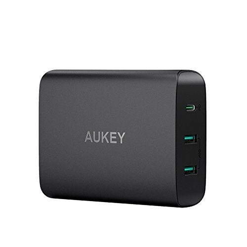 60w Netzteil Ladegerät (AUKEY USB C Ladegerät mit 60W Power Delivery 3.0 & 2 Ports USB Netzteil für MacBook/Pro, Dell XPS,Samsung, Google Pixel, iPhone XS / XS Max / XR usw.)