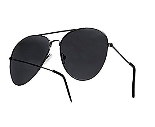 4sold Sonnenbrille Fliegerbrille Pornobrille in vielen Farbkombinationen Klassische Pilotenbrille Unisex Sonnenbrille (Aviatro black black)