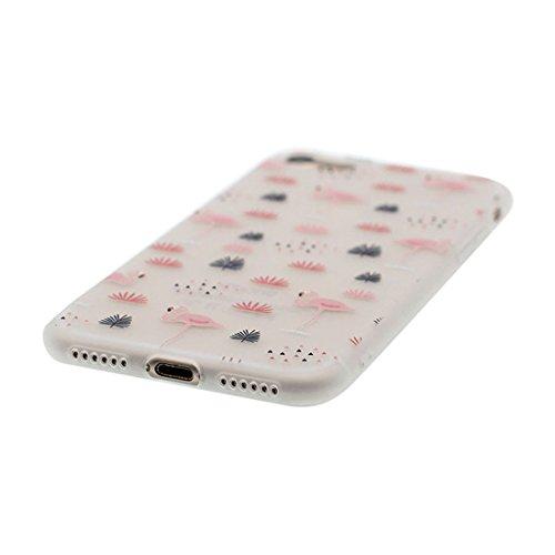 Custodia iPhone 6S, Silicone trasparente Cartoon Stile del modello Case Con materiale di alta qualità & morbido & & Ultra sottile iPhone 6 / 6s copertura 4.7 Graffi Prova / Banana Stylish Fenicottero
