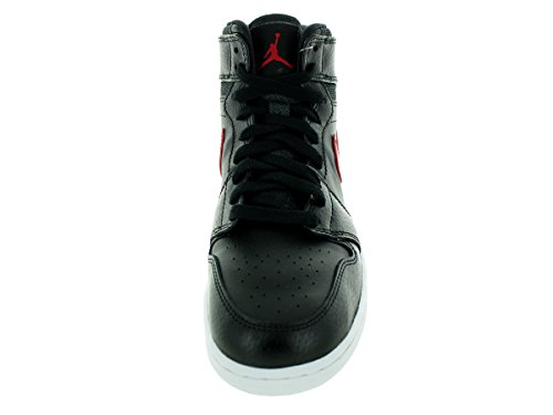 Nike Air Jordan 1 Retro High Bg, Chaussures de Sport-Basketball Garçon black, gym red-black-white