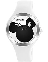 Disney Mickey Mouse por AM: PM dp155-u532–Reloj unisex (correa de silicona), color blanco