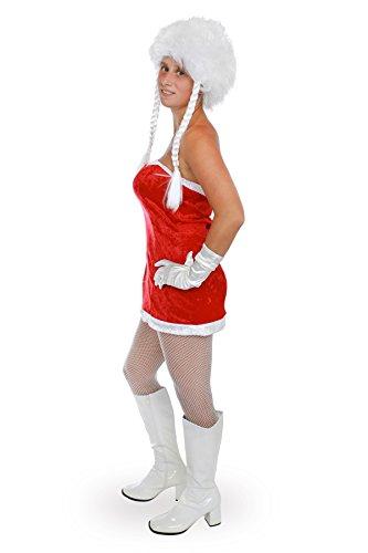 Miss Santa Kleid sexy Nikolauskostüm Damen (Weibliche Santa Claus Kostüme)