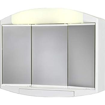 Jokey saphir armoire glace largeur 60 cm blanc - Glace de salle de bain avec eclairage ...