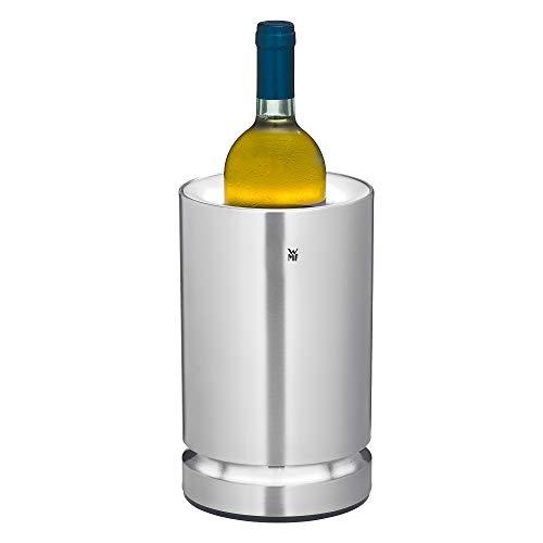 WMF 0415400011 Ambient Flaschenkühler (elektrisch, ideal als Sekt oder Weinkühler, Kühlmanschette, LED Beleuchtung), cromargan matt