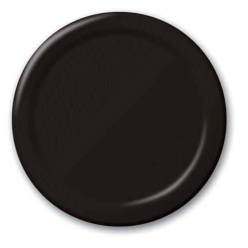 Touch der Farbe 24Zählen 26cm Bankett Teller Einheitsgröße Black velvet (Papier Platten, In Der Masse Für Hochzeit)