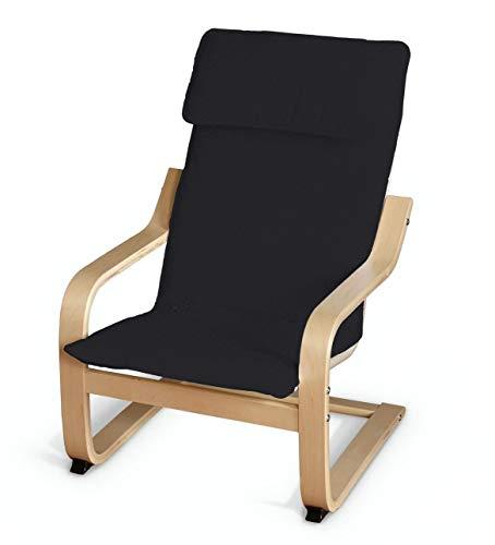 Dekoria Poäng Kissen für den Kindersessel Sesselhusse passend für IKEA Modell Klappsta schwarz
