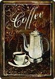 Targa in metallo 20 x 30 cm caffè Cafe Cappu RV espr