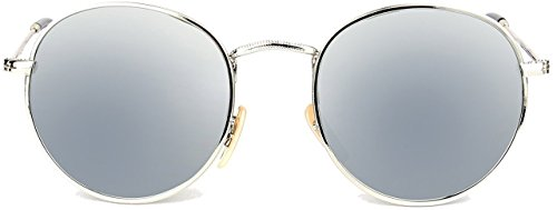 U.S. CROWN Style Silver Metal Frame and Mirror Silver Lens color sunglasses for men and women