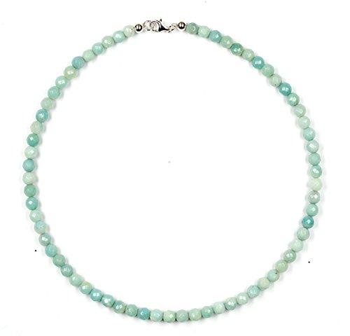Amazzonite di gioielli (collana) lunghezza 45 cm chiusura 925 sterling-argento modello 2194