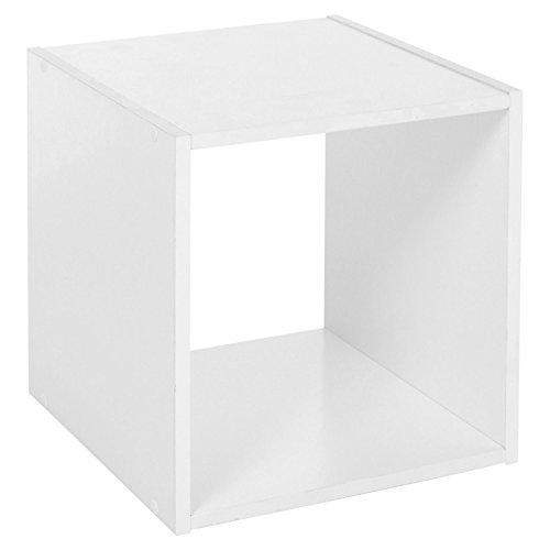 Traders Deals Online , um-1, 2, 3, 4Etagen aus Holz Bücherregal Regal Display Aufbewahrung Holz Regal Böden Einheit, weiß, 1 Tier