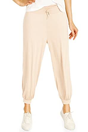 Bestyledberlin - Donna pantaloni sportivi jogging pluder pantaloni harem pants j71a 36/S-38/M Beige