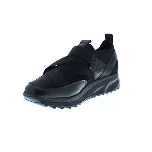 Bronx Black Leather Low Shoe Schwarz