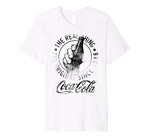 Coca-Cola Vintage Faded Real Thing Bottle Graphic T-Shirt