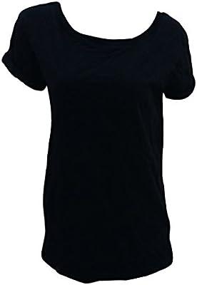 Cada uno para mujer negro de manga corta para T-camiseta de manga corta nuevo con etiquetas tamaño de la funda de UK 6