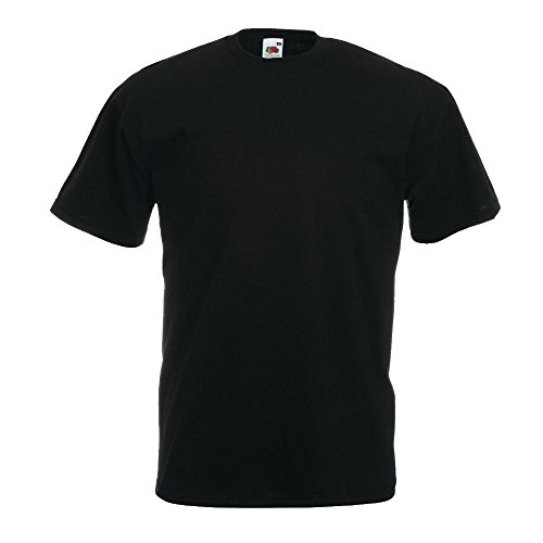Fruit of the Loom - Classic T-Shirt 'Value Weight' 5X-Large,Black (5xl T-shirt)