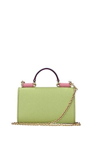 BI0653B3283S9007 Dolce&Gabbana Coque Iphone Femme Cuir Vert Vert