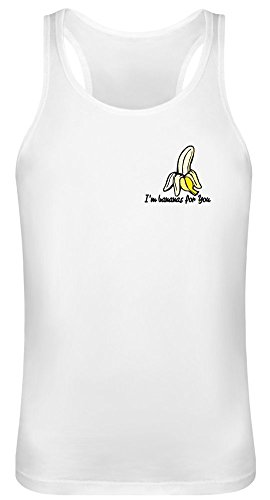 Ich Bin Bananen für Dich - I'm Bananas for You Tank Top T-Shirt Jersey for Men & Women - 100% Soft Cotton DTG Printing Unisex Clothing Small -