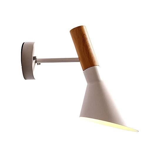 BAIF Moderne minimalistische Wandleuchte frei drehbar Gang Gang Schlafzimmer Schlafzimmer Nachttischlampe Mais Wandleuchte Wandleuchte Led Badezimmerspiegel Scheinwerfer (Farbe: Weiß, Größe: Mono Mono-crystal