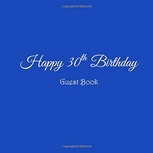 Happy 30th Birthday Guest Book 30 Year Old Party Gifts Accessories Decor Ideas Supplies Decorations For Women Men Her Him