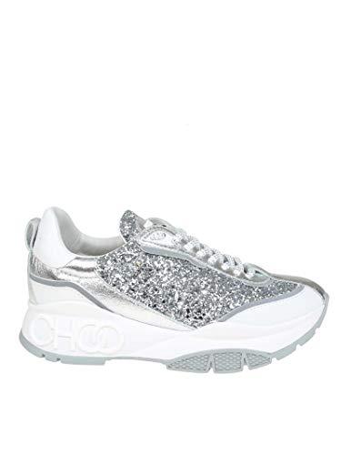 Jimmy Choo Damen Rainecgcsilver Silber Leder Sneakers