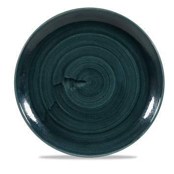 Churchill Stonecast -Coupe Plate Teller- Durchmesser: Ø28,8cm, Farbe wählbar (Rustic Teal) Teal Coupe