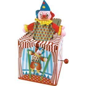 traditionell-metall-clown-jack-in-das-box