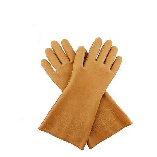 BHDYHM 5KV Sicherheit Elektrische Schutzhandschuhe Gummi Isolierhandschuhe 1 Paar Hochspannungselektriker