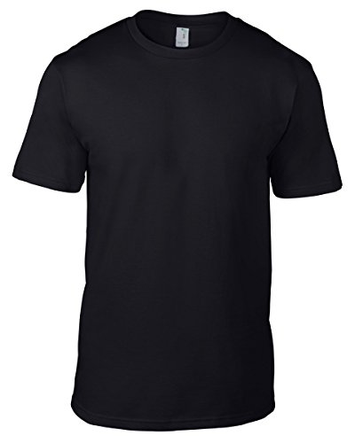 anvil Herren Organic Fashion Basic T-Shirt / 490 XXL,Schwarz - Schwarz