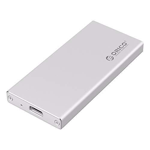AOEIUV MSA-UC3 Aluminium Typ C msata 3.0/2.0 Portable HDD Gehäuse für 1,8 Zoll SSD (ohne Festplatte) Msa-video
