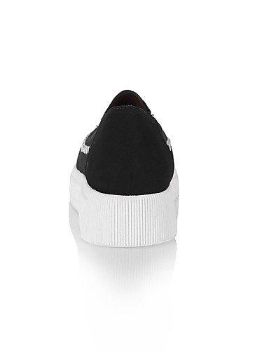 ShangYi Scarpe Donna - Mocassini - Ufficio e lavoro / Formale / Casual - A punta - Basso - Finta pelle - Nero / Grigio / Beige Black