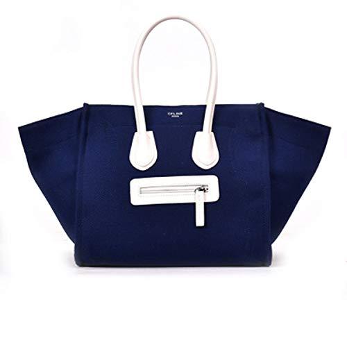 Canvas große Tasche weiblich 2019 neue Mode Handtasche Leinwand Smiley Tasche (Blue, 54 × 32 × 28...