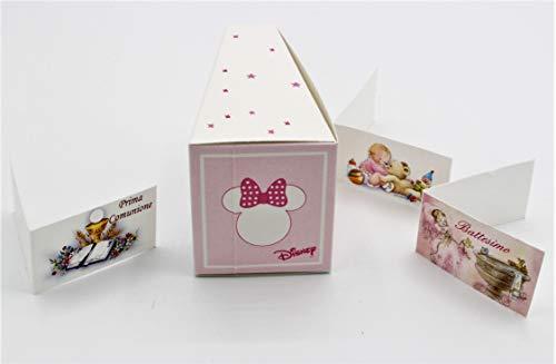 Florentina n.20 scatola portaconfetti forma fetta torta minnie stars disney
