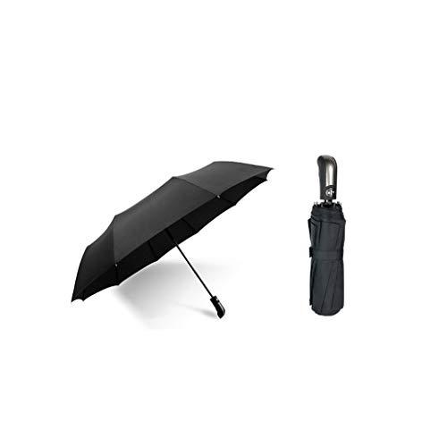 SGLI Paraguas Plegable Completamente automático y Paraguas de Doble Uso para Lluvia, más Estudiantes universitarios, Paraguas Negro Tibetano Azul Paraguas
