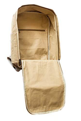 PAPERO ® aus Kraft-Papier | 2 in 1 Handtaschen Rucksack | robust, wasserfest ultraminimalistisch -Lynx- ✅ Vegan nachhaltig ♻ Damen Kleiner Backpack Platz für Laptop| FSC® Zertifiziert |, Urban Style - 4