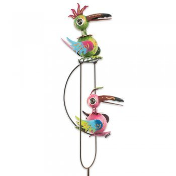 Gartenstecker - Gartenpendel Crazy Swingbirds
