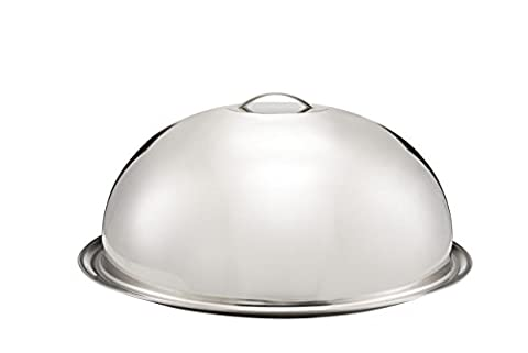 Sweet Home - Round dome cover with plated stainless steel - art. 24.9010 - Lon. (Piatto Gigante)
