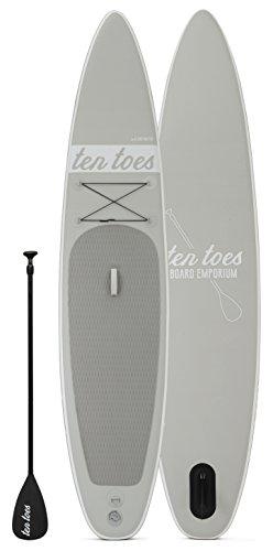 Ten Toes Board Emporium Globetrotter aufblasbares Stand-Up-Paddelboard - Grau, Large/30,48 cm