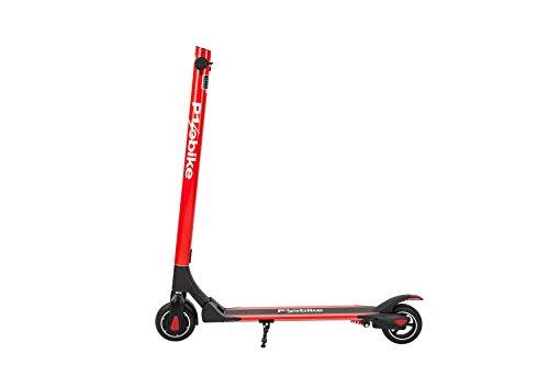 E-Scooter Klappbar Roller Scooter Elektroroller Carbon - Reichweite bis zu 35km 25 km/h P1 PowerOne (Rot)