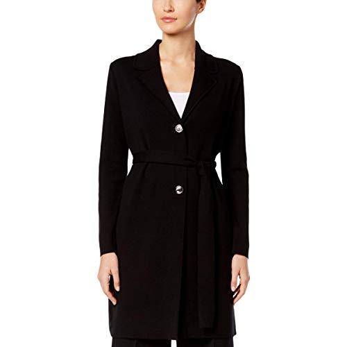 Nine West Damen Jacke mit Gürtel, schwarz - Small