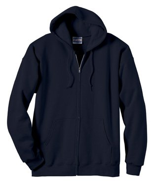 10 Oz Kapuzen-sweatshirt (Ultimative Baumwolle Full-Zip-Fleece-Kapuze 10 Oz Sweatshirt, Deep Navy, S)