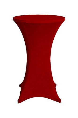 Medicate® Stehtischhussen Hussen Stehtische-Bistrotische Stehtischhusse 80x120 cm Rot