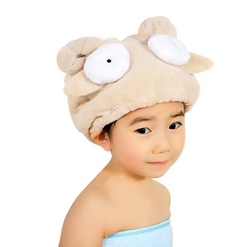Toalla secador niños niñas sombrero Cheveaux secado