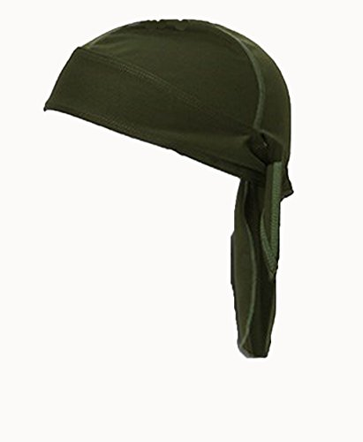 FakeFace Unisex Bandana Cap Kopftuch Kopfband Biker Hat Piratentuch in Verschiedenen Farben und Mustern Sport Fahrrad Grün