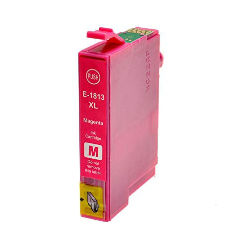 Tintenpatrone für Epson T1813XL Magenta - Magenta, 18 ml, kompatibel zu C13T18134010. Expression Home XP30, XP102, XP202, XP205, XP302, XP305, XP402, XP405.
