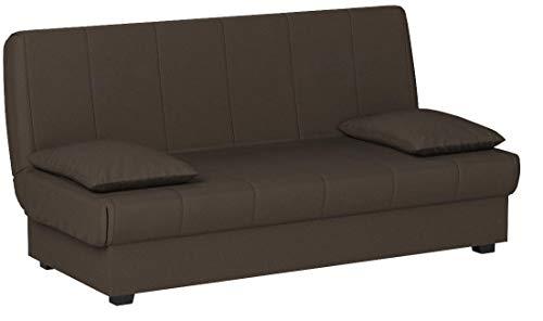 HOGAR24 ES Sofa Cama Clic Clac con Arcón De Almacenaje, Color Chocolate.