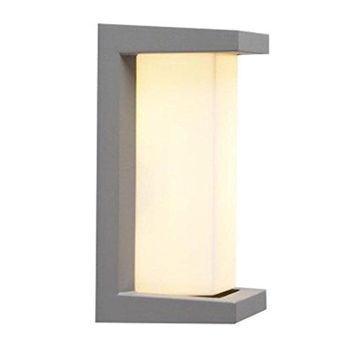 Wasserdichte Wandleuchte im Freien LED-Hof-Garten-Landhaus-Balkon-Korridor-Licht (Farbe : Gray)
