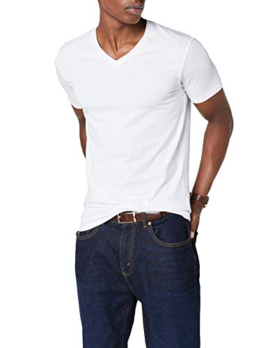 Hochwertiges T-shirt (ESPRIT Herren 997EE2K821 T-Shirt, Weiß (White 100), Large)