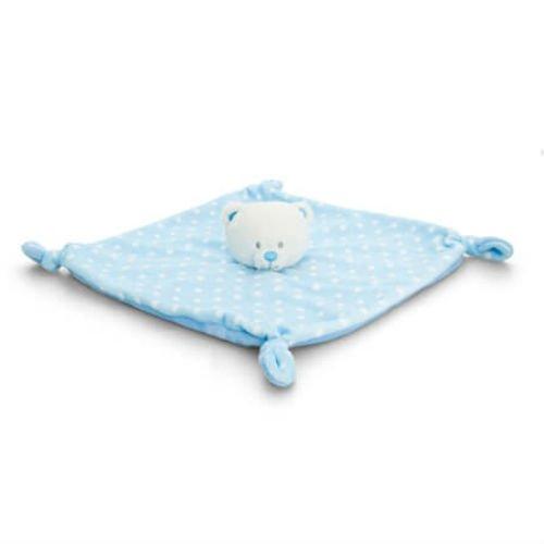 Keel Toys - Baby Spotty Bear - Bleu - Couverture de confort - 25cms